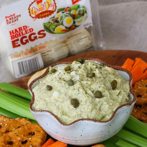 Dill Pickle Egg Salad Dip